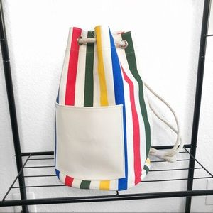 NWOT Urban Outfitters Rainbow Bucket Back Pack